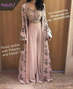 indian designer wear The Stylish And Elegant Jecket Suit In Pastel Pink Color Looks Stunning And Gorgeous With Trendy And Fashionable Printed,Lace Work,Mirror Work .The Silk Fabric Party Wear Jacket Suit Looks Extremely A. Indian Gowns Dresses, Indian Fashion Dresses, Dress Indian Style, Indian Designer Outfits, Pakistani Dresses, Fashion Outfits, New Dress Design Indian, Bridal Anarkali Suits, Silk Anarkali Suits