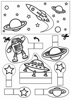 space - Coloring pages and crafts Astronomy Crafts, Astronomy Quotes, Astronomy Tattoo, Astronomy Pictures, Astronomy Stars, Space Preschool, Space Activities, Science Activities, Space Planets