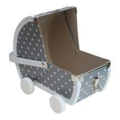 Speelkoffertje grijs poppenwagen A Shelf, Shelves, Cardboard Toys, Grey Doors, Grey Houses, Girls Bedroom, Nursery, Storage, Furniture