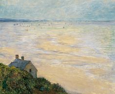 La Cabane à Trouville, marée basse (C Monet - W 686),1881.