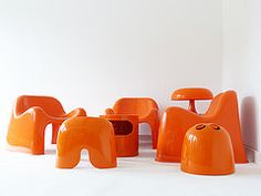 New entries to the orange artemide landscape (bb.plastics) Tags: design 60s space plastic age 70s 1970 seventies sixties 70th 60th 1960 70er 60er