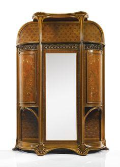 """c. 1899-1900 Louis Majorelle """"AUX ORCHIDÉES"""" Art Nouveau Armoire"""