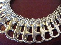 Silver Pull Tab Necklace