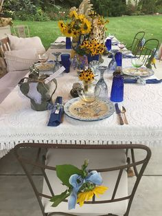 Birthday in Blue Tablescape