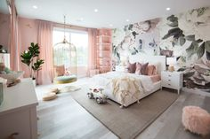 Kate – Dream Butterfly Bedroom & Rainbow Playroom for Elle and Alaia … Mr. Kate – Dream Butterfly Bedroom & Rainbow Playroom for Elle and Alaia house playroom Dream Butterfly Bedroom & Rainbow Playroom for Elle and Alaia Room Ideas Bedroom, Girl Bedroom Designs, Bedroom Layouts, Home Decor Bedroom, Bed Room, Cool Bedroom Ideas, Bedroom Rustic, Luxury Rooms, Luxurious Bedrooms