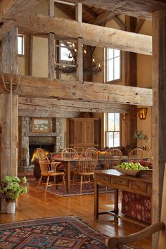 Reclaimed barn turned into a mountain vacation home in Jackson, Wyoming-SR