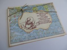 Handmade Vintage Style By The Sea Greeting by TatteredRosesPaperie