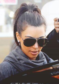 Kim Kardashian ... perfect ponytail