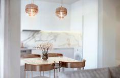 Interior design kitchen-studio for Julia, Masha Kukoba Studio Kitchen, Interior Design Kitchen, Ceiling Lights, Table Decorations, Modern, House, Ukraine, Furniture, Behance