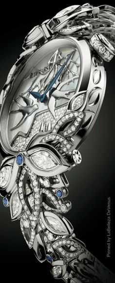 Piguet High Jewelry Watchmaking via: High Jewelry, I Love Jewelry, Jewelry Accessories, Jewelry Design, Silver Jewelry, Fashion Accessories, Amazing Watches, Beautiful Watches, Cool Watches