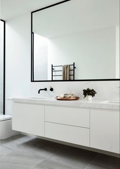 "remodelproj: ""Black and white bathroom """