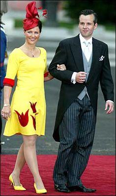 Prinsesse Märtha Louise i det spanske kronprinsbryllupet.