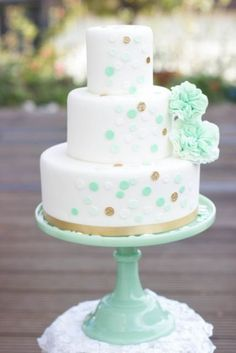 Cheerful And Playful Polka Dot Wedding Cakes