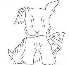 Scottie Dog EmbroideryPattern.  Free embroidery pattern to print andstitch.