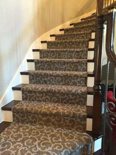 Mallorca carpet from Tuftex Carpets of California on this staircase.  Mill Creek Carpet Sale/Installation
