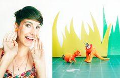 Clothes & Curfuffles: Dinosaur Earrings