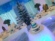 Decoracao tema Frozen