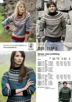 Rauma 203R-5 Norwegian Knitting, Fair Isle Knitting, Knitting Designs, Graphic Sweatshirt, Design Inspiration, Jumpers, Sweatshirts, Nifty, Sweaters