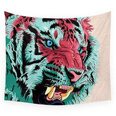 Society6 Tiger Wall Tapestry Medium 68 x 80 *** You can find out more details at the link of the image. Note: It's an affiliate link to Amazon.