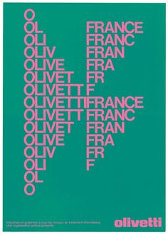 agi-open-london: Walter Ballmer — Olivetti posters (1970's)