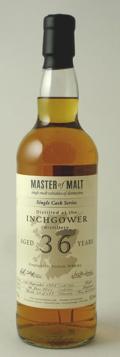 Inchgower 36y.o. Single Malt Scotch Whisky · Master of Malts