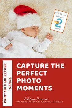 Create the sweetest keepsake photos with this set of 24 milestone photo cards. Available in both English and Spanish  #babykeepsake #babymilestone #babyphotos #babyphotoprop #newmomgift