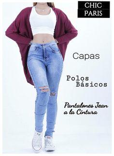 Pantalon a la CINTURA Rasgado + Capa+Crop top Basico