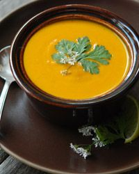 Cream of carrot soup with ginger and curry #recipe