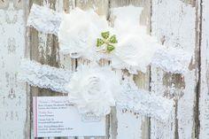 Irish Wedding Garters Shamrock Garter Set by KennaBridalMaternity