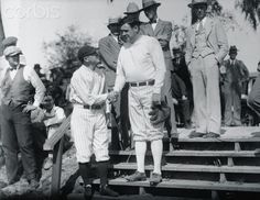 Babe Ruth and Miller Huggins Shaking Hands 1927