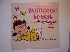 Lucy from Peanuts Dolly Madison sign