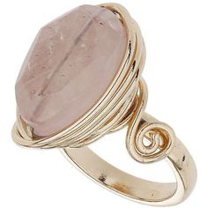 TOPSHOP Rose Wrap Stone Ring found on Polyvore featuring jewelry, rings, accessories, pink, stone jewellery, pink ring, wire wrapped rings, stone rings and wire wrapped jewelry