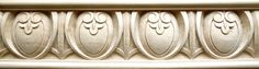 Decorative and unusual design for hand carved egg and dart wood molding