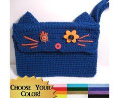 Kitty Cat Kindle Nook Ereader Case in Cute Crochet Custom Handmade Christmas Gift #dteam