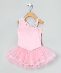 Love this Light Pink Rose Asymmetrical Tutu Dress - Toddler & Girls on #zulily! #zulilyfinds