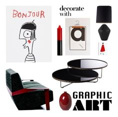 """""""Graphic Art'"""" by dianefantasy ❤ liked on Polyvore featuring interior, interiors, interior design, home, home decor, interior decorating, House by John Lewis, Assembly Home, MOROSO and Modloft"""