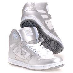 Dc Shoes Rebound Hi Women's Skate Shoes: White 8