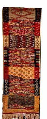 """Moroccan Handwoven Berber Tribal Wool Kilim Kilem Runner Rug Carpet 118""""x 25.5"""""""