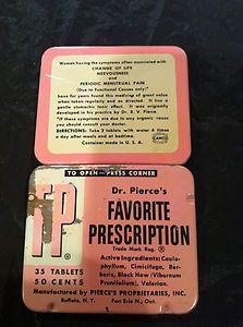 VINTAGE MEDICINE TIN Ladies Change of Life/Nervousness/Menstrual Pain