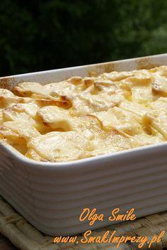 Zapiekane ziemniaki ze śmietaną - przepis Olgi Smile