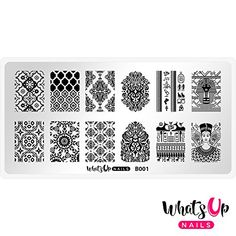 Create beautiful nail art with Moroccan patterns, a pharaoh, hieroglyphics and much more with this exotic nail stamping plate. Stamping Nail Polish, Nail Stamping Plates, Beautiful Henna Designs, Beautiful Nail Art, Toe Nails, Coffin Nails, Stencils, Exotic Nails, Nail Art Designs