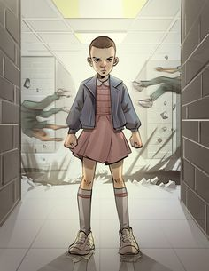 """Stranger Things was so flippin' goooood! Stop what you're doing and binge-watch."" - Eleven fan art"