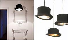 BZCasa Magazine - http://mag.bzcasa.it/abitare/architettura-e-design/i-lampadari-piu-originali-li-preferisci-a-forma-di-campari-di-tazzina-o-di-cappello-3005/