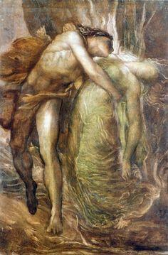 aenorlemusaeisdead:    George Frederick Watts - Orpheus and Eurydice