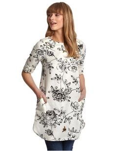 Coming Soon to selected stores... Joules Womens Three Quarter Sleeve Tunic, Creme Floral www.oldrids.co.uk