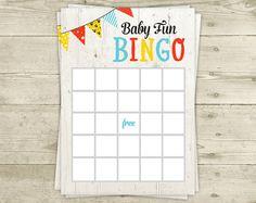 BINGO Baby Shower Game - CoEd Bingo - Printable - INSTANT DOWNLOAD