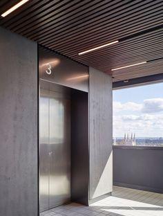 1 Lyric Square, for The Office Group - Stiff + Trevillion Lift Design, Door Design, Design Design, House Design, Lobby Interior, Interior Design, Modern Interior, Elevator Lobby Design, Portal