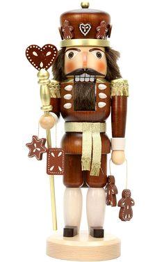 "Amazon.com: 32-328 - Christian Ulbricht Nutcracker - Gingerbread King (Natural) - 15""""H x 6""""W x 5.5""""D: Home & Kitchen"