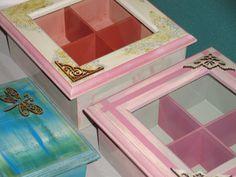 Cajas, cajitas; con vidrio, sin vidrio, con cajón, sin cajón, con divisiones y sin divisiones. Para todos los gustos y para todos los usos. Te gustan?