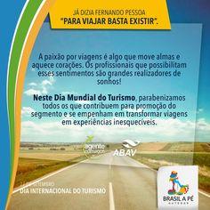 Primeiramente nossos parabéns!  Vamos transformar suas trips em novas experiências e outras vivências. Em breve começaremos nossas operações.  Caminhe e sonhe conosco.   #BrasilaPé #ConhecerparaPreservar #DiaInternacionaldoTurismo #TourismInternationalDay #DíaInternacionaldelTurismo #DiadoTurismólogo #ABAV #ACTA #ABETA #Caminheesonheconosco #Walkanddreamwithus #Caminarysoñarconnosotros